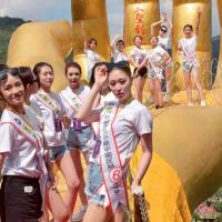 #旅游进行时#傣族小姐姐们还意犹未尽,泼水是她们的最爱